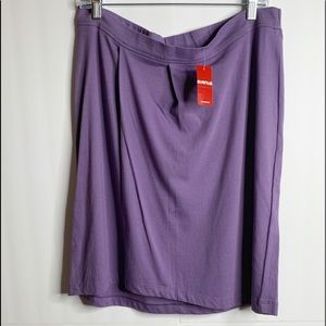NWT Avenue Purple Knit Pull On Skirt Size 14/16